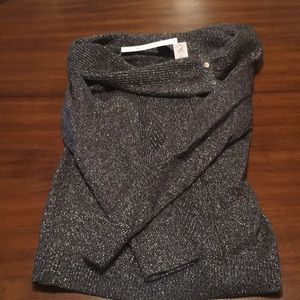 Sparkly WHBM offshoulder/cowl neck sweater
